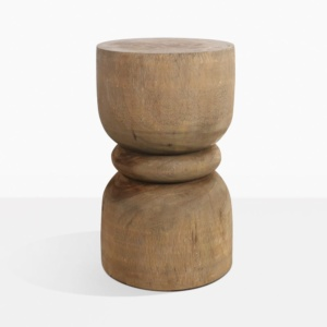 Zig Round Teak Side Table