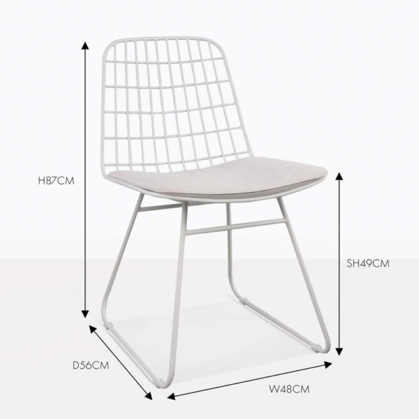 Caloco Outdoor Dining Chair white