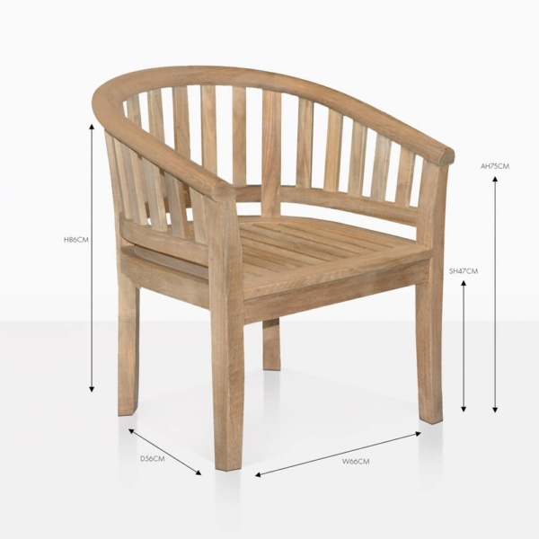 Peanut teak dining chair