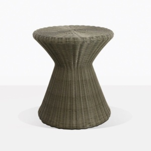 Jak Wicker Round Side Table Moss Green