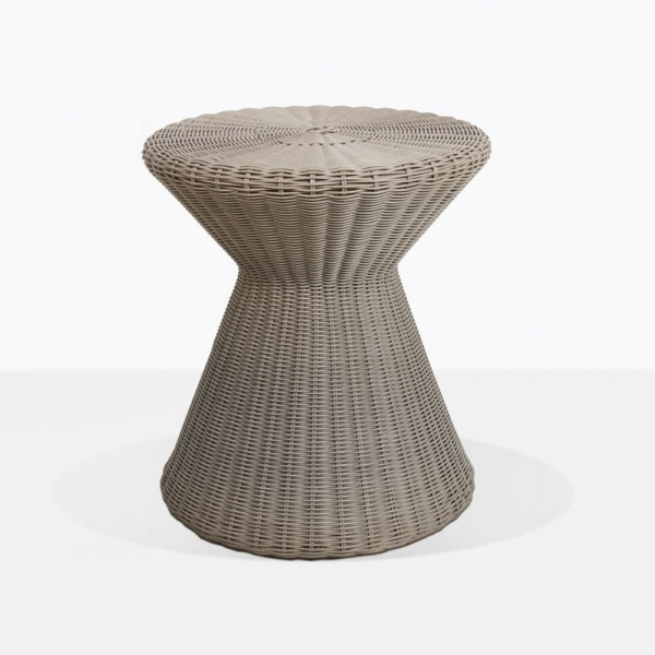 Jak Wicker Side Table In Taupe Weave