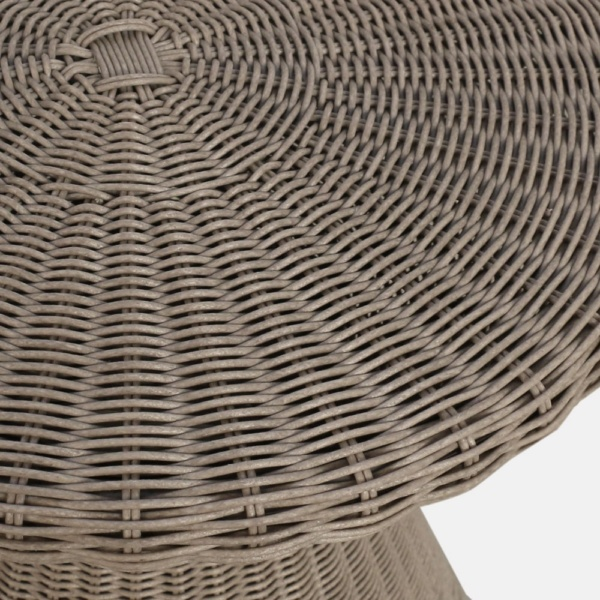 Jak Brown Wicker Table Closeup