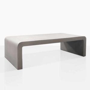 maxwell raw concrete coffee table angle grey