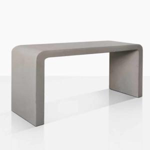 maxwell concrete console table angle grey