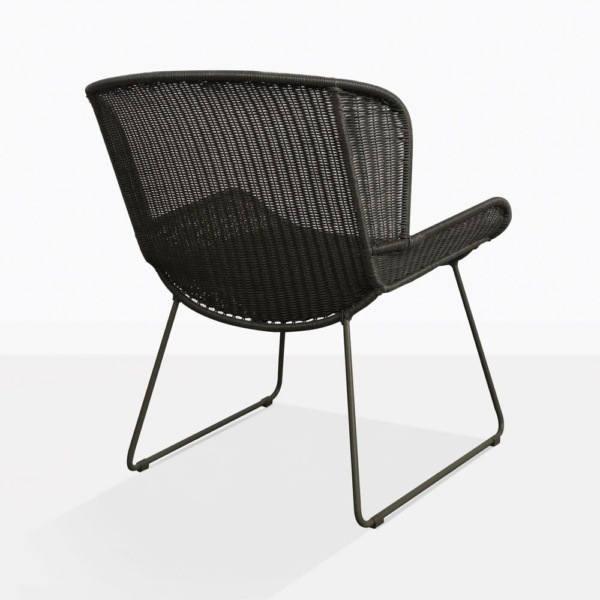Nairobi Pure Black Wicker Chair Back