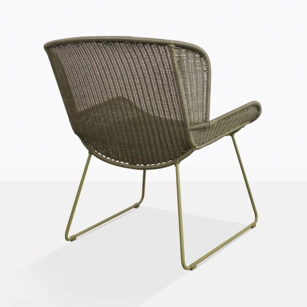 Nairobi Pure Moss Green Wicker Chair Back