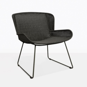 Nairobi Pure Black Wicker Lounge Chair