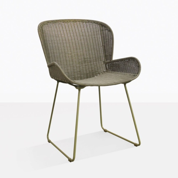 Nairobi Pure Green Wicker Dining Chair Back Design