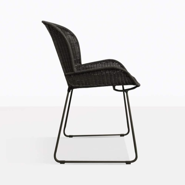 Nairobi Pure Black Wicker Dining Side Chair