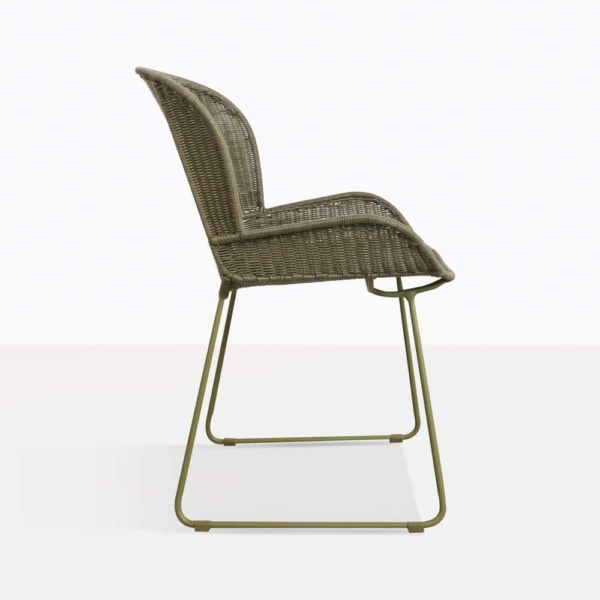 Nairobi Pure Green Wicker Dining Side Chair