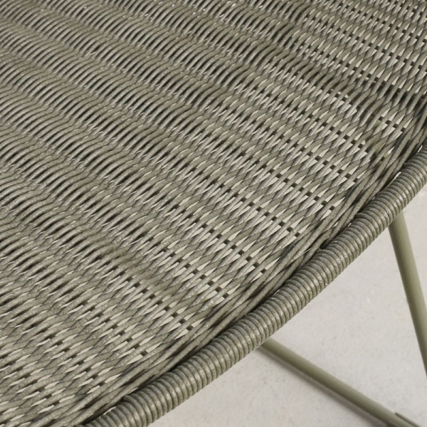 Nairobi Pure Moss Green Wicker Chair Closeup