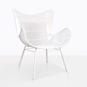 Nairobi Wing White Relaxing Chair