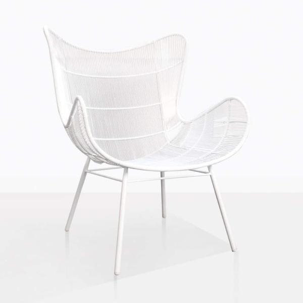 Nairobi Wing White Relaxing Chair