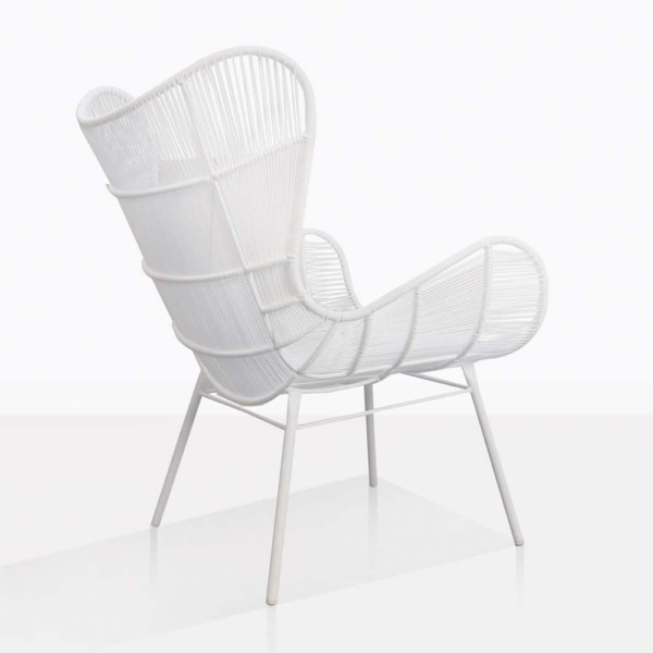 Nairobi Wing White Relaxing Chair Back
