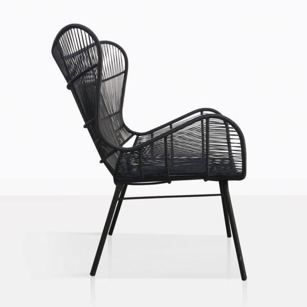 Nairobi Wing Black Relaxing Chair Side