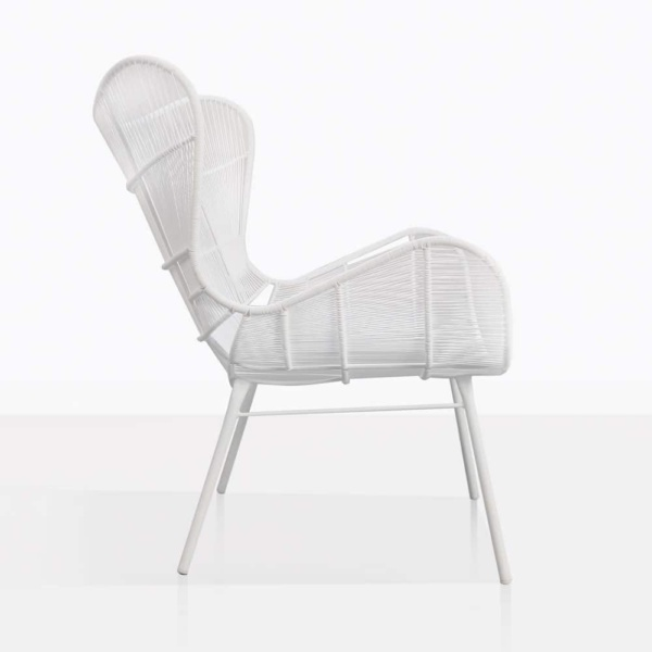 Nairobi Wing White Relaxing Chair Side