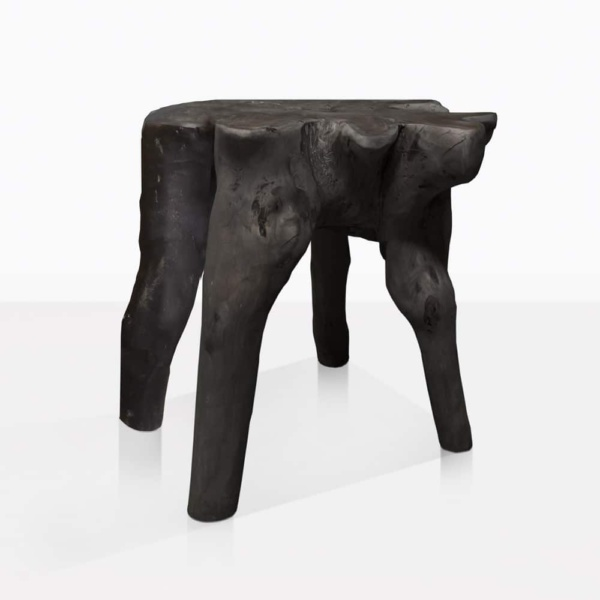 Oro Black Organic Teak Side Table