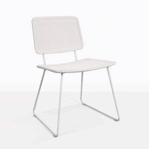Polly White Wicker Dining Chair