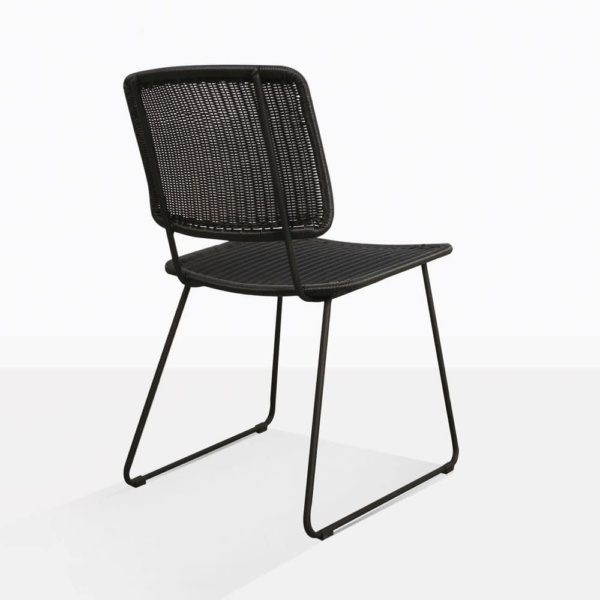 Polly Black Wicker Dining Chair Back