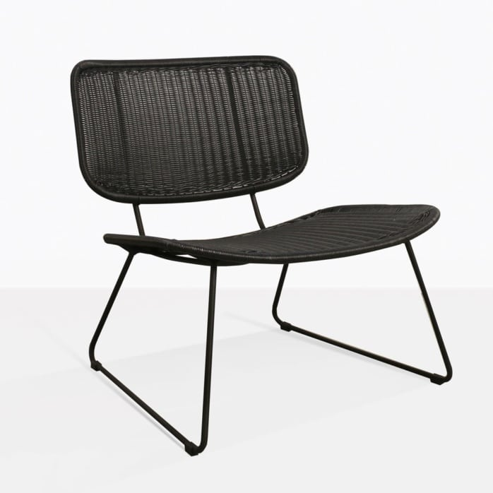 Polly Modern Black Wicker Relaxind Chair