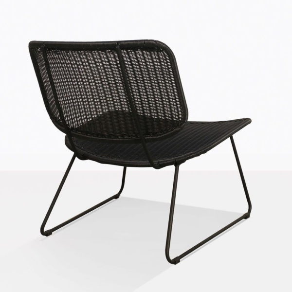 Polly Black Wicker Lounge Chair