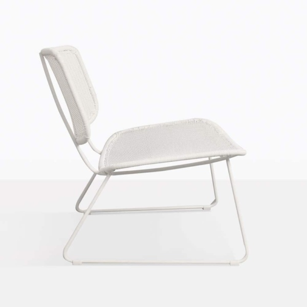 Polly Modern White Wicker Chair