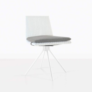 white swivel chair - sammi dining