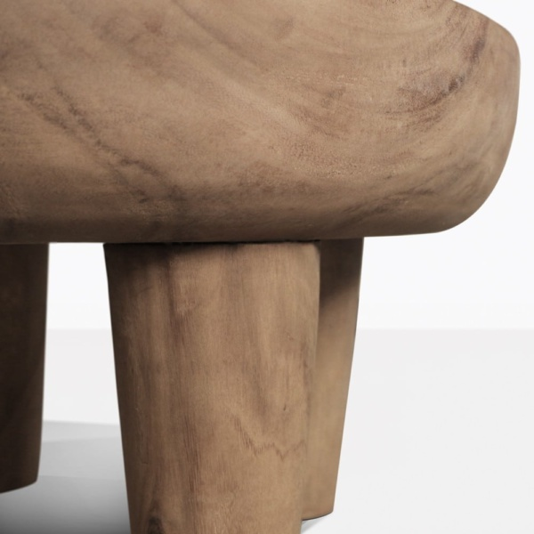 African Teak Coffee Table Closeup Of Legs