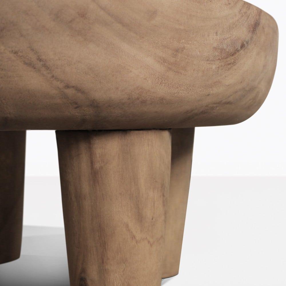 African Safari Teak Small Side Table Patio Furniture