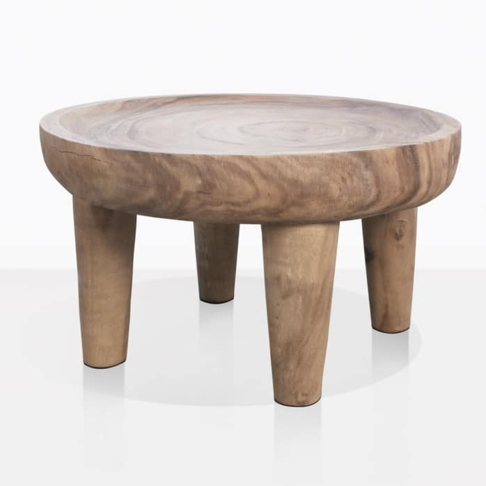 African Teak Round Coffee Table