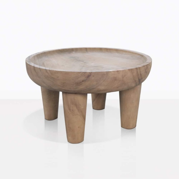 African Medium Sized Round Teak Coffee Table