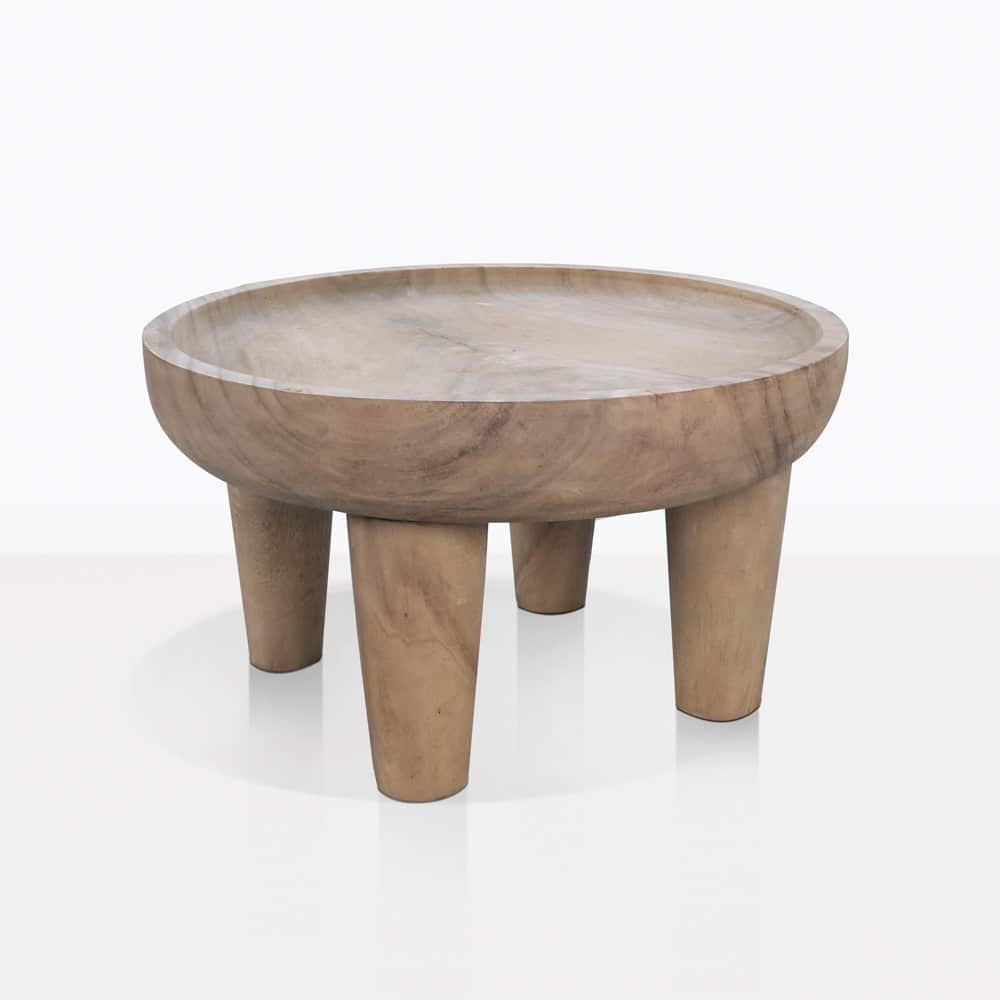 Medium Teak African Safari Side Table | Patio Furniture ...