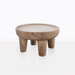 African Small Teak Round Coffee Table