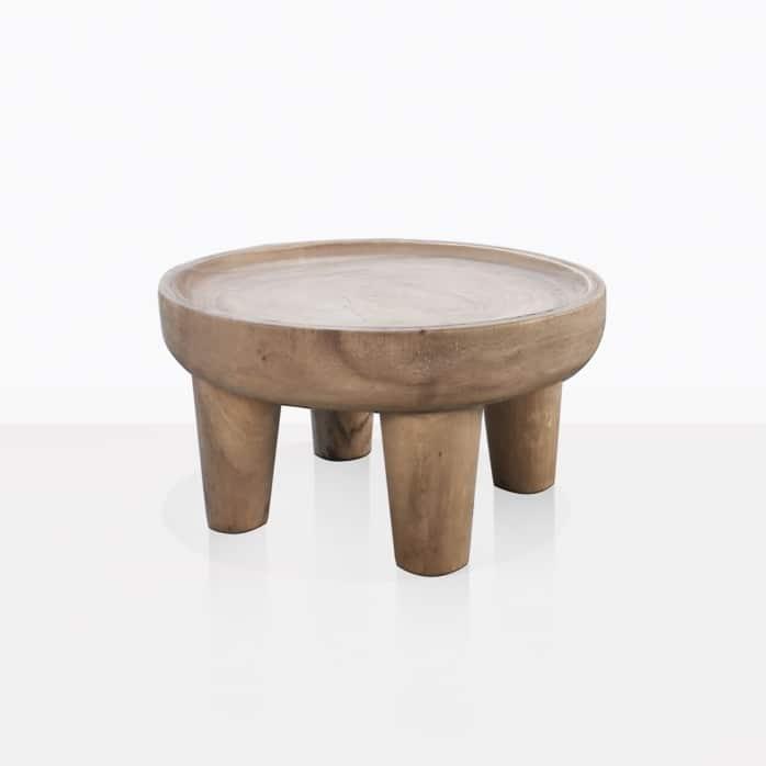 African Safari Teak Small Side Table Patio Furniture Design Warehouse