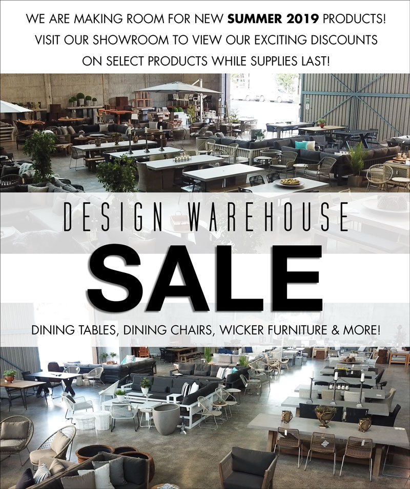 Design Warehouse Showroom Sale Announcment