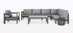 Amazon Sectional Furniture Collection In Charcoal