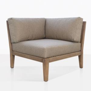 Gazzoni Teak Sectional Corner Chair With Three Cushions