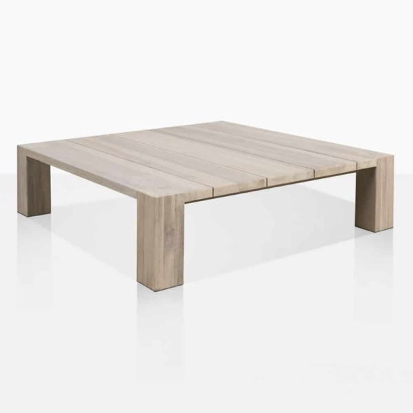 Kent Street Low Teak Square Coffee Table