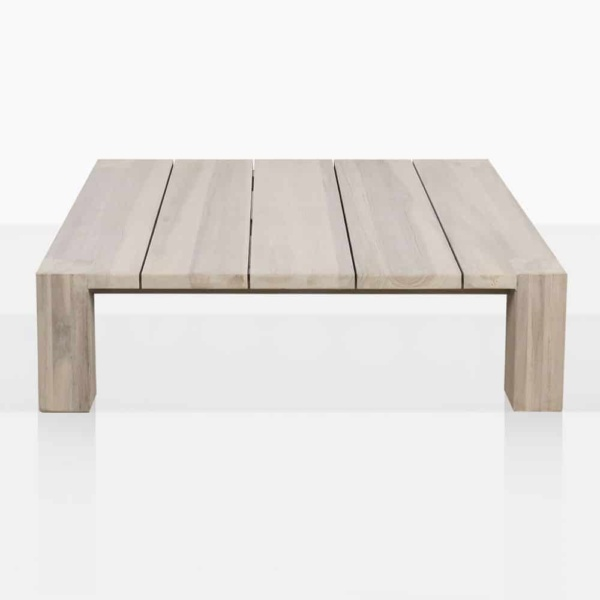 Kent Street Low Teak Square Coffee Table Side