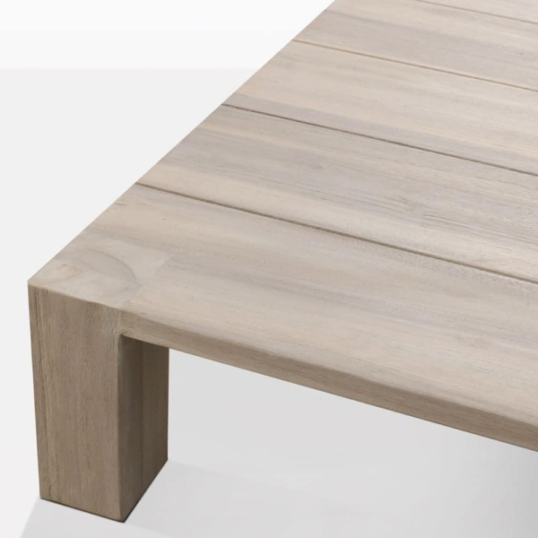 Kent Street Low Teak Square Coffee Table Closeup