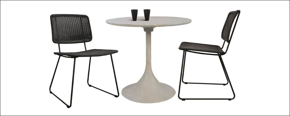 Polly Dining Chairs With Round Dining Table