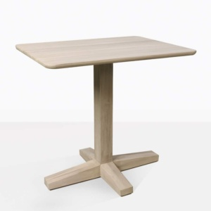 Shelli Teak Pedestal Dining Table For Two