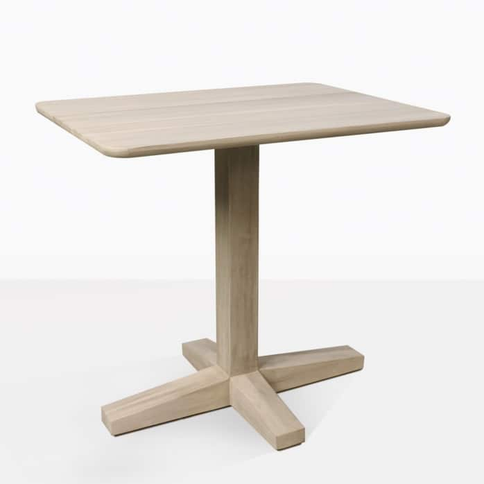 Shelli Teak Pedestal Dining Table For Two