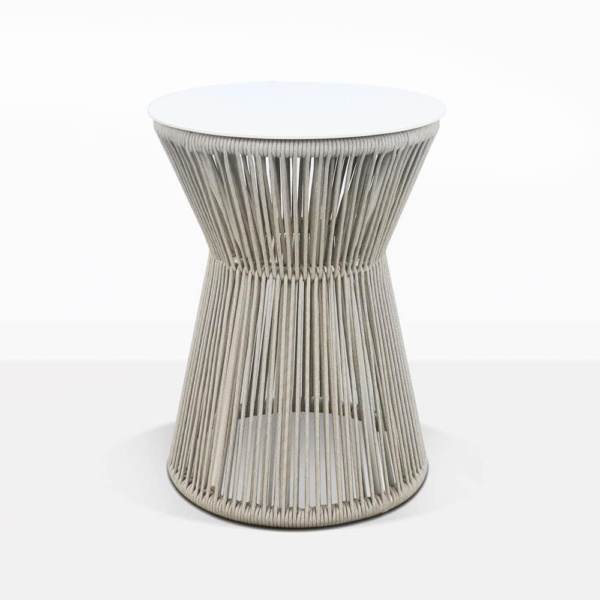 Zepher Aluminum And Rope Round Accent Table