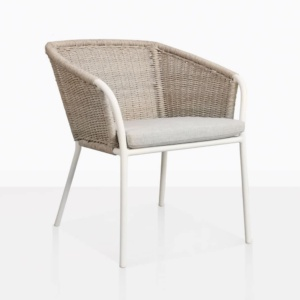 Becki Wicker And Aluminium Outdoor Dining Chair