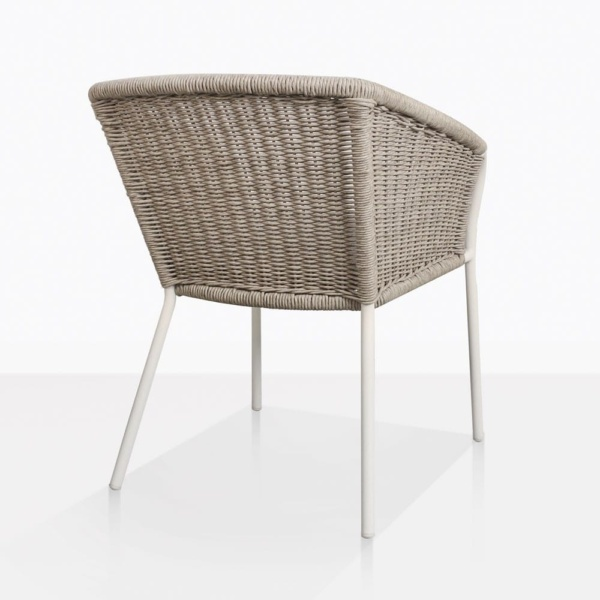 Becki Wicker And Aluminium Outdoor Dining Chair Back