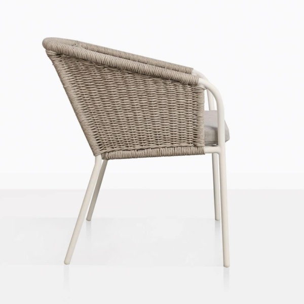 Becki Wicker And Aluminium Outdoor Dining Chair Side