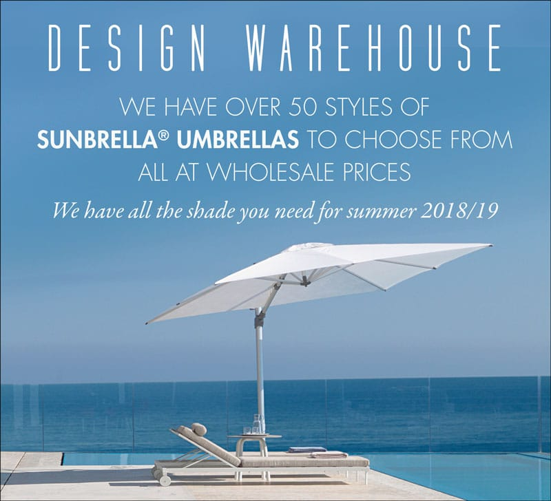 Design Warehouse Carries Sunbrella Umbrellas