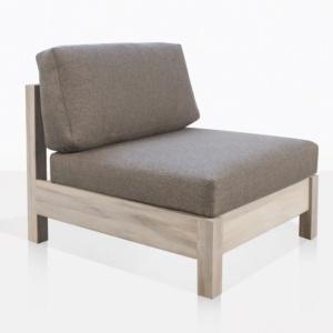 Kent Street Teak Center Chair With Cushions