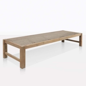 Gazzoni Teak And Rope Low Bench